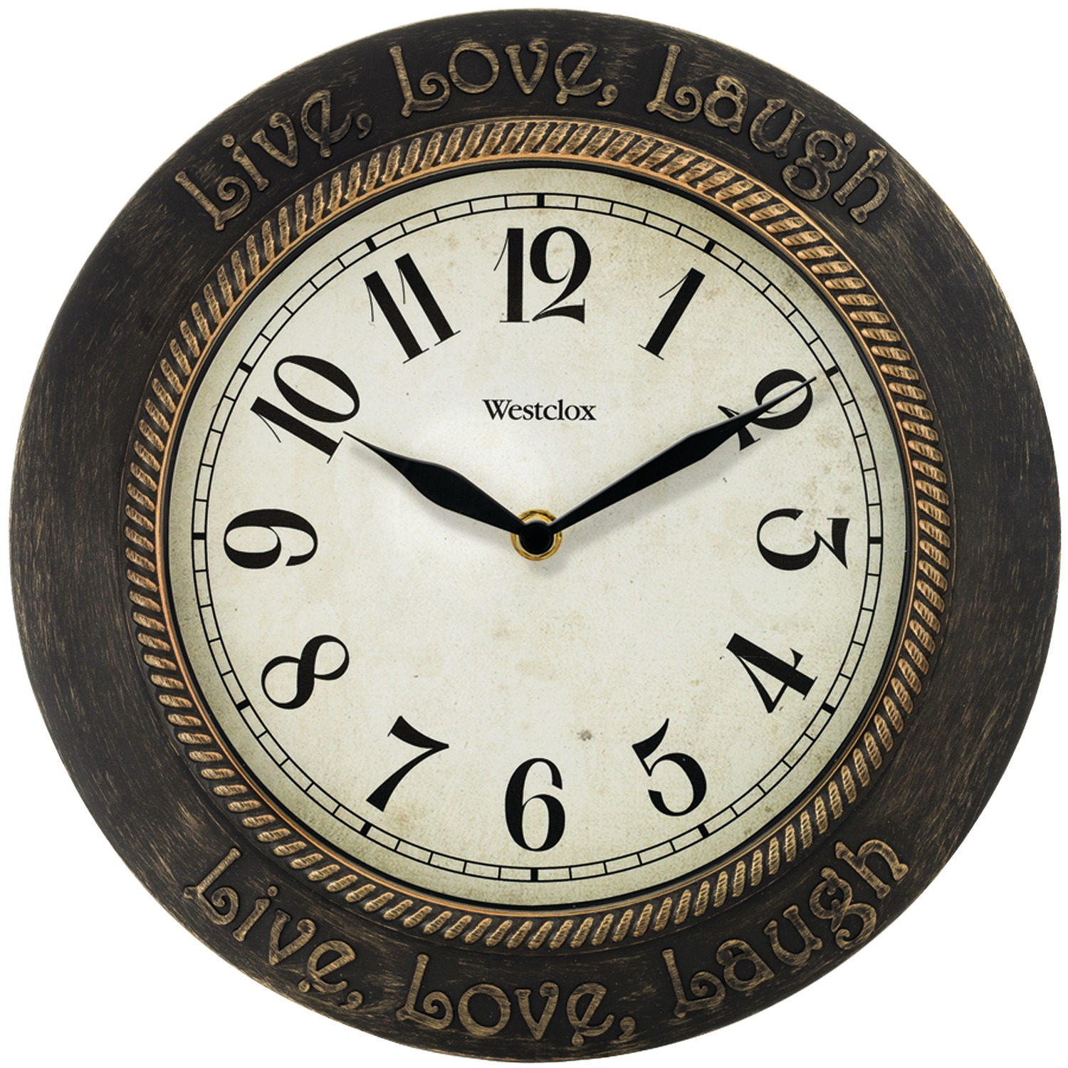 Westclox 32097 11 Quot Round Live Love Laugh Wall Clock