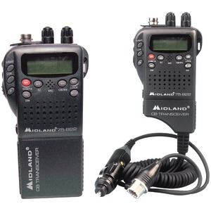 MIDLAND Handheld 40-Channel CB Radio with Weather-All-Hazard Monitor & Mobile Adapter 75-822
