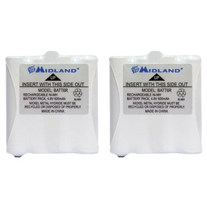 MIDLAND 2-Way Radio Accessory (2 pk of GMRS Batteries for 200 & 300 Series Radios) AVP8