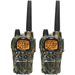 36-Mile Camo GMRS Radio Pair Pack with Batteries & Drop-in Charger