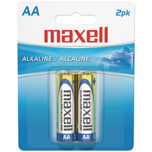 MAXELL Alkaline Batteries (AA 2 pk Carded) 723407 - LR62BP