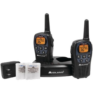 MIDLAND 26-Mile GMRS Radio Pair Pack with Drop-in Charger & Rechargeable Batteries LXT560VP3