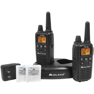 30-Mile GMRS Radio Pair Pack with Drop-in Charger & Rechargeable Batteries