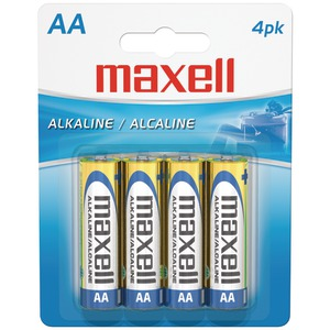 MAXELL Alkaline Batteries (AA 4 pk Carded) 723465 - LR64BP