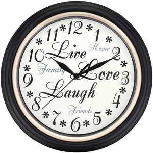 WESTCLOX 12 Inch. Round Live Love Laugh Message Clock 32032