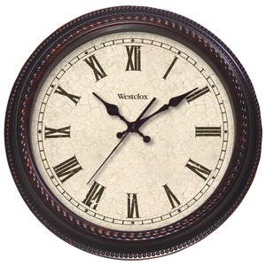WESTCLOX 20 Inch. Round Marbeled Case Finish Clock 32059
