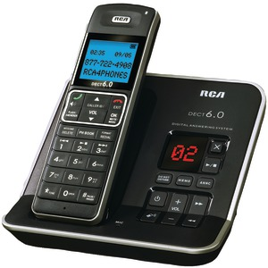 DECT 6.0 Digital Cordless Phone with Caller ID & Digital Answering System (Single-Handset System)