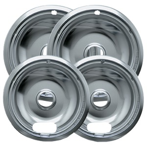 Universal Chrome Drip Pans Style A Multipack