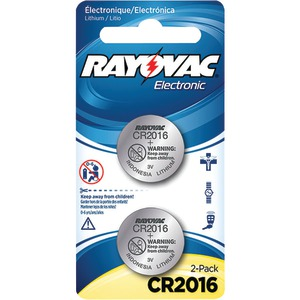 RAYOVAC 3-Volt Lithium Keyless Entry Batteries 2 pk (CR2016 Size) KECR2016-2A
