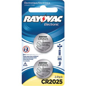 RAYOVAC 3-Volt Lithium Keyless Entry Batteries 2 pk (CR2025 Size) KECR2025-2A