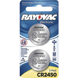 RAYOVAC 3-Volt Lithium Keyless Entry Batteries 2 pk (CR2450 Size) KECR2450-2A