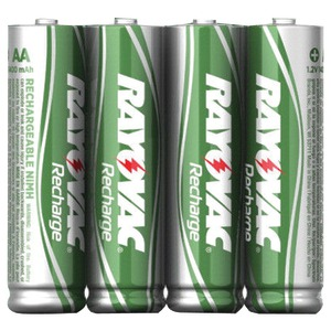 RAYOVAC Ready-to-Use Rechargeable NiMH Batteries Carded 4 pk (AAA; 600mAh) LD724-4OPB