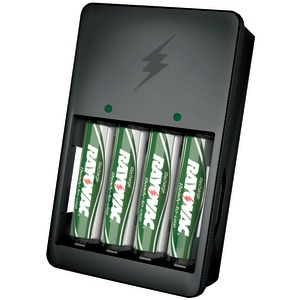 Value Charger with 2 AAA & 2 AA Ready-to-Use Rechargeable Batteries