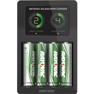 LCD Smart Charger with 4 AA NiMH Low Self-Discharge Batteries