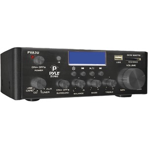 60-Watt Hi-Fi Mini Amp with USB-SD(TM) Card Player
