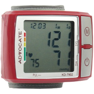 ADVOCATE Wrist Blood Pressure Monitor with Color Indicator KD-7902