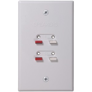 Stereo Speaker Wire Wall Plate (White)