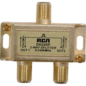 RCA 2.4GHz Digital Plus 2-Way Splitter DH24SPF