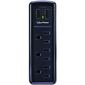 CYBERPOWER 3-Outlet Professional Surge Protector Wall Tap with 2 USB Ports CSP300WU
