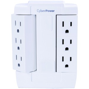 CYBERPOWER 6-Outlet Swivel Wall Tap GT600P