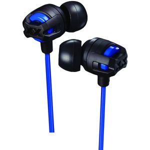 JVC XX Series Xtreme Xplosives Earbuds with Microphone (Blue) HAFX103MA
