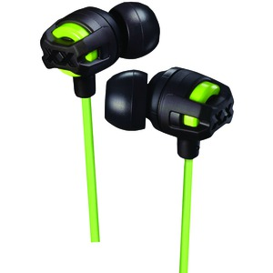 JVC XX Series Xtreme Xplosives Earbuds with Microphone (Green) HAFX103MG
