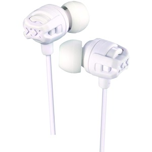 JVC XX Series Xtreme Xplosives Earbuds with Microphone (White) HAFX103MW