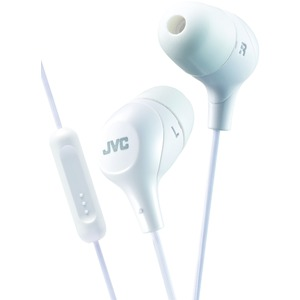 JVC Marshmallow(R) Inner-Ear Headphones with Microphone (Yellow) HAFX38MW