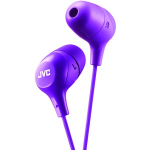 JVC Marshmallow(R) Inner-Ear Headphones (Purple) HAFX38V