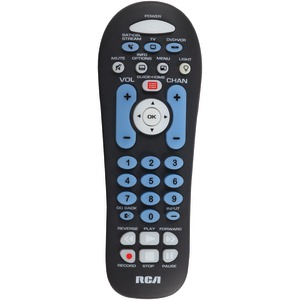 RCA 6-Device Big Button Universal Remote with Streaming & Dual Navigation (Black) RCR313BR