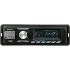 Single-DIN In-Dash Marine Mechless AM-FM Receiver with Bluetooth(R)