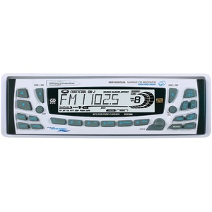 Single-DIN In-Dash Detachable MP3-CD AM-FM Receiver with Weather Band
