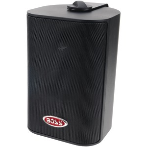 4 Inch. Indoor-Outdoor 3-Way Speakers (Black)