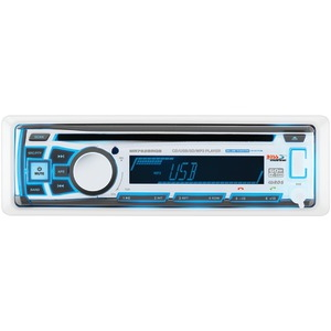 Single-DIN In-Dash Marine AM-FM-CD Receiver with Bluetooth(R) RGB Illumination & Wireless App Control