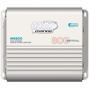 BOSS AUDIO MOSFET Bridgeable Marine Class AB Amp (2-Channel) MR800