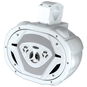 6 Inch. x 9 Inch. 4-Way Wake Tower Speaker System (White)