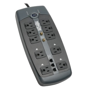 TRIPP LITE 10-Outlet Surge Protector with Telephone Protection (with Coaxial Protection) TLP1008TELTV