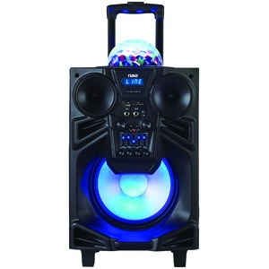 NAXA 10 inch. Portable DJ/PA Speaker with Bluetooth(R) & Disco Dome Light NDS-1001
