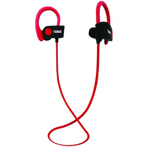 NAXA PERFORMANCE Bluetooth(R) Wireless Sport Earbuds with Ear Hook (Red) NE-961 RED
