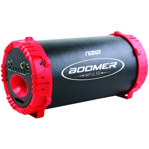 NAXA BOOMER IMPULSE LED Bluetooth(R) Boom Box (Red) NAS-3084 RED
