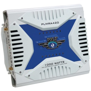 PYLE Hydra Series 4-Channel 1000-Watt Waterproof Marine Bridgeable MOSFET Class AB Amp PLMRA420