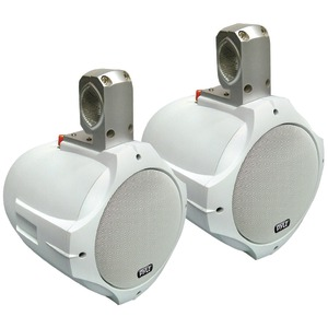 PYLE 2-Way White Wakeboard Speakers (6.5 Inch. 200 Watts) PLMRW65