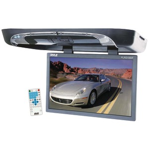 PYLE 19 Inch. Ceiling-Mount LCD Monitor with DVD Player & Wireless FM Modulator-IR Transmitter PLRD195IF
