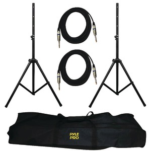 PYLE PRO Heavy-Duty Pro Audio Speaker Stand & 1-4'' Cable Kit PMDK102