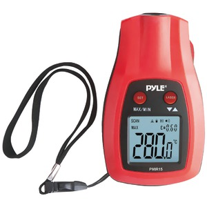 PYLE-METERS Mini IR Thermometer with Laser Pointer PMIR15