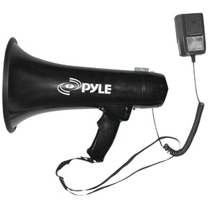 PYLE PRO 40-Watt Professional Megaphone-Bullhorn with Siren & Auxiliary Jack PMP43IN