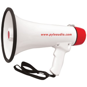 PYLE PRO 40-Watt Professional Megaphone-Bullhorn with Handheld Microphone-Siren Rechargeable Battery & Auxiliary Jack PMP48IR