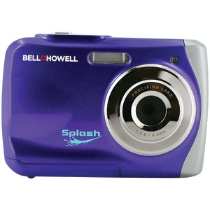 BELL+HOWELL 12.0 Megapixel WP7 Splash Waterproof Digital Camera (Purple) WP7-P