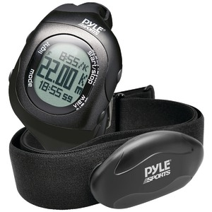 Bluetooth(R) Fitness Heart Rate Monitoring Watch with Wireless Data Transmission & Sensor (Black)