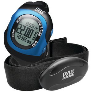 Bluetooth(R) Fitness Heart Rate Monitoring Watch with Wireless Data Transmission & Sensor (Blue)